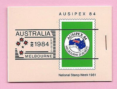 AUSTRALIA 1981 BOOKLET - AUSIPEX 84 National Stamp Week 1981 (Green) - Complete