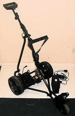 Slazenger Electric Golf Trolley / Black Frame / Good Condition & Working Order