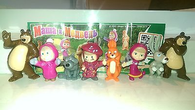 Masha and the bear 2, Russia, Ferrero, Kinder, compl. set with all Bpz