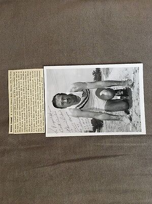 Very Rare Autographed Olympic Track Star Thane Baker Photo Personalized