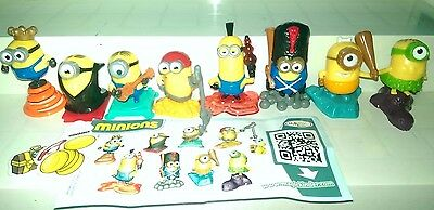 Minions Mexico, yellow dracula, Ferrero, Kinder, compl. set with all Bpz