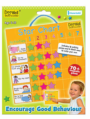 Magnetic Reward Star Chart with 24 Activity & 56 coloured reward star magnets