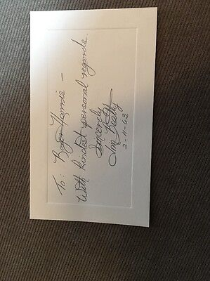 Rare Jim Beatty Authentically Signed Index Card