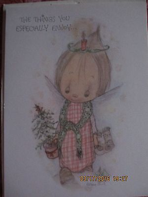 Betsey Clark Hallmark Vintage Christmas Card With Envelope~Unused~The Things You