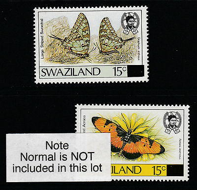 Swaziland (616) 1990 Butterflies 115c SURCHARGED ON WRONG VALUE  u/m