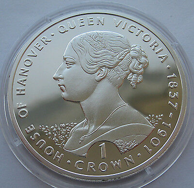 "Gibraltar 1 Crown 1993 ""House of Hanover Queen Victoria"" Silver Proof !!!"