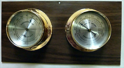 vintage Springfield Co Weather Station With Original Booklet Two Gauge Weather