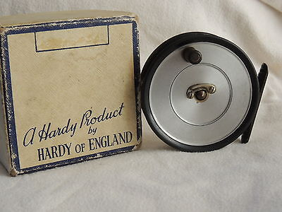 """Vintage Hardy Uniqua 3 3/8"""" Trout Fly  Reel Boxed"""