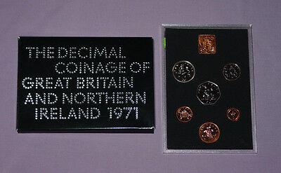 1971 ROYAL MINT PROOF SET COINS - UK First Decimal Coins - VERY NICE EXAMPLE