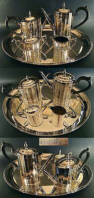 Magnificent 5 Piece Silverplated Lunt Tea & Coffee Service Paul Revere Pattern