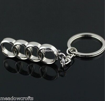 Audi Key Ring  NEW - UK Seller - Silver - Car Keyring