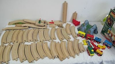 Brio Lot  Mountain Wooden Track Trains (Battery Powered) Not Working Over 50 Pcs