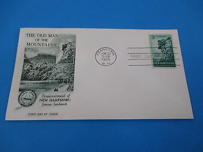 1955 Old Man Of The Mountains Sesquicentennial of NH Famous Landmark FDC S2869