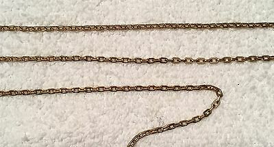 Vintage  Oval Soldered Link Struck Brass Jewelry Chain 6 Feet