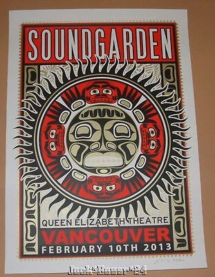 Adam Pobiak Soundgarden Vancouver Poster Print Signed Numbered Art