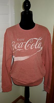 NWT Coca-Cola Vintage Faded Red Sweatshirt Size Med Womens