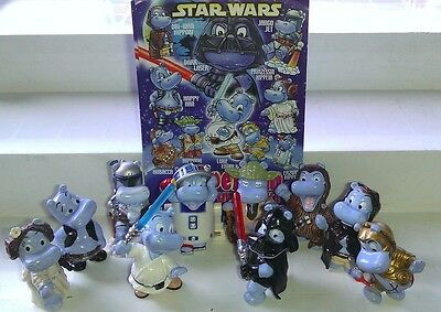 Star Wars Hippo, Hipperium, Ferrero, Kinder, compl. set with all Bpz