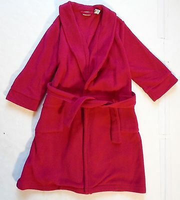 Unisex Youth Kids size 5 - 6 L.L. Bean Red Fleece Bathrobe