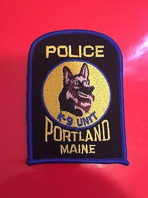 Poltland Maine K-9 Police  Shoulder Patch
