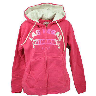 Las Vegas Nevada Established Zipper Hoodie Womens Pink Sin City of Lights  Ladies 1c3f8b0cfb6c