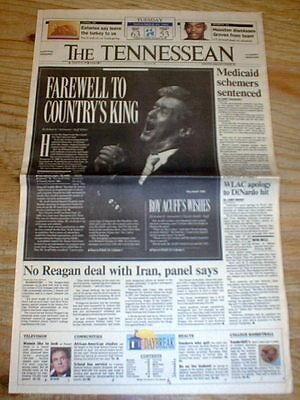 BEST 1992 Nashville TENNESSEE newspaper Country music star ROY ACUFF is DEAD