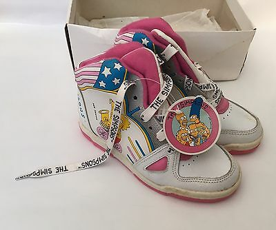 The Simpson's Vintage 1991 Child's Size 11 U.K. Trainers New Bart Lisa