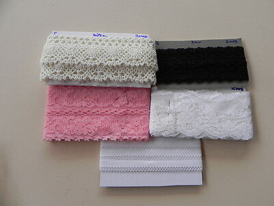 Pack of 5 x 2mt lengths of New Lace - A