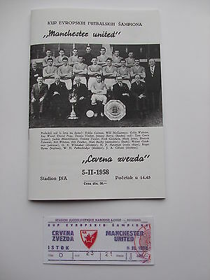 FEB 5th*BUSBY BABES MUNICH 1958 COLLECTION 11 ITEMS RED STAR V MANCHESTER UNITED