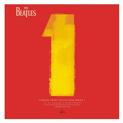Beatles 1 Limited Edition Singles Art Print Collection - 27 #1 45s Covers