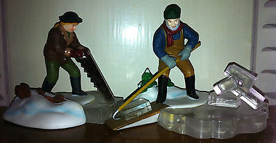 Department 56 Blue Star Ice Harvesters Heritage Village Retired Orig Box 56502