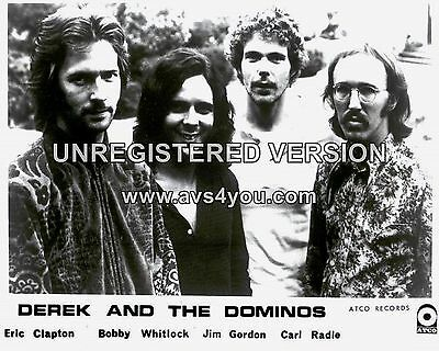 """Derek and the Dominoes 10"""" x 8"""" Photograph no 1"""