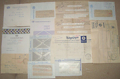 Greece lot of old OTE telegrams first flight covers comm. covers propaganda etc.