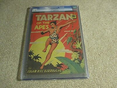 RARE Large Feature Comics #5 Tarzan Of The Apes CGC 7.0 Dell 1939