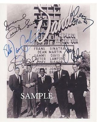 Rat Pack Reprint Autographed Picture Signed Photo 8X10 Christmas Gift Rp Sinatra
