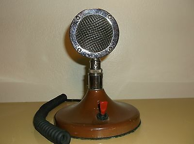 Vintage Astatic Model D-104 Microphone With Stand