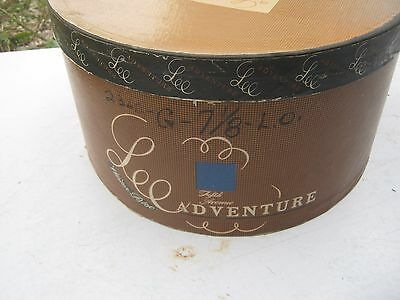 Vintage ?? Lee Adventure Brown Oval Round ?? Hat Empty Box good for decor