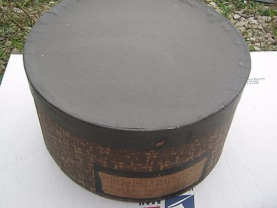 Vintage ??  Round Black Grey Brown ?? Hat Empty Hat Box