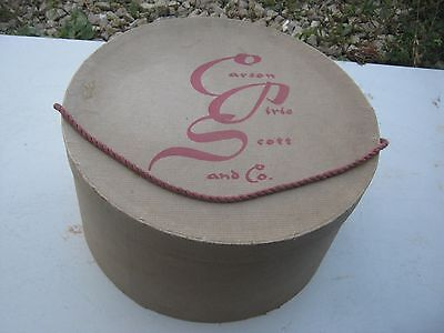 Vintage ?? Carson Pirie  Scott and Co Brown ?? Hat Empty Box good for decor