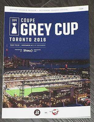 2016 104th Grey Cup CFL Game Program Ottawa Redblacks vs Calgary Stampeders