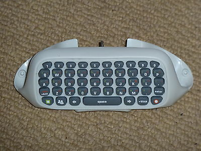 MICROSOFT XBOX 360 LIVE CHATPAD in White NEW CLIPON CONTROLLER KEYBOARD KEY CHAT