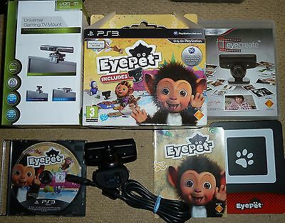 SONY PLAYSTATION 3 PS3 OFFICIAL EYE CAMERA LOT EyePet Game TV Mount EyeCreate