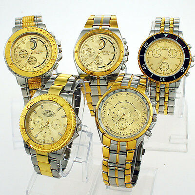Mixed Style Fashion 5PCS Different Style Men Dress Wristwatch As Shown NG5