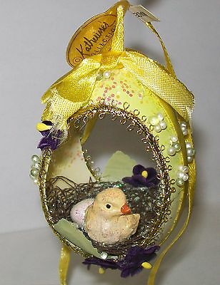 Katherine's Collection Spring Easter Chick Egg Diorama Christmas Tree Ornament