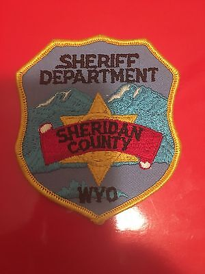 Sheridan  County Wyoming Sheriff  Shoulder Patch