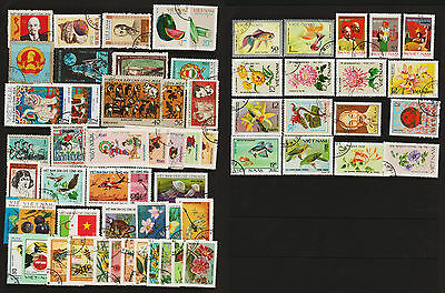 OPC 1970-80 Vietnam Collection of 62 CTO Never Hinged