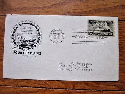 Ww2 Four Chaplains Martyrs Killed On Ship Ss Dorchester 1943 Farnam Fdc 1948