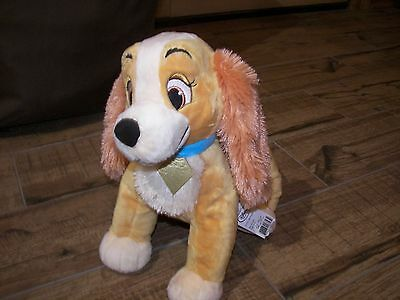 """DISNEY 12"""" Plush LADY And The Tramp Dog with Tags"""