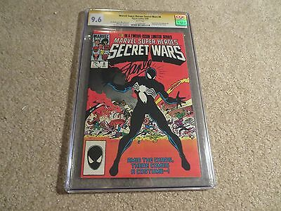 Marvel Super Heroes Secret Wars #8 CGC SS 9.6 Signed By Stan Lee 1984 White Page