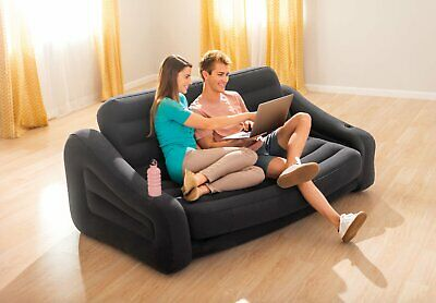 INTEX PULL-OUT SOFA BED Adult Size Inflatable Lounge Camping Indoor Outdoor Use