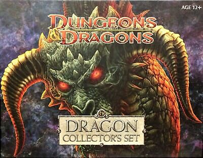 D&D DRAGON COLLECTOR'S SET Dungeons Dragons miniature Red Black Blue Green White